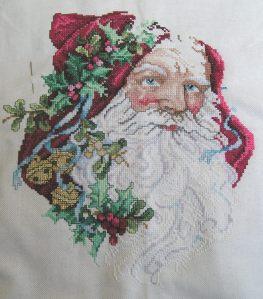 Portrait of Santa, in progress