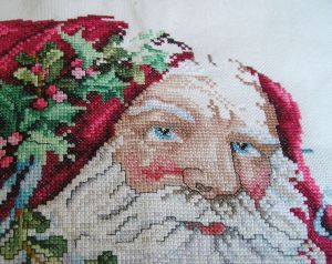 Portrait of Santa, in progress, close-up