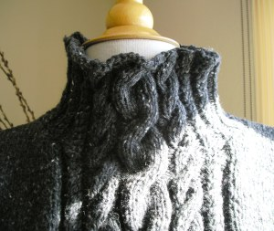 Karen's Sweater Collar Close-up