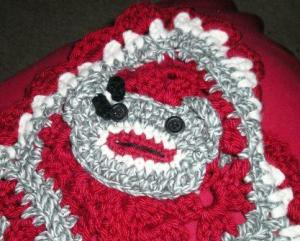 Li'l Monkey Blanket Close-up of Girl Monkey Face