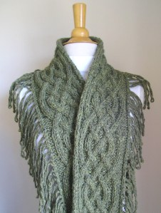 "My Latest Finish: ""Saxon Braid Scarf"" by Nicky Epstein"