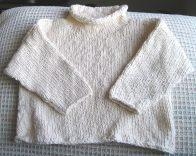 Lauren's Repurposed Sweater In Progress