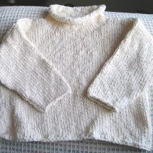 Lauren's Repurposed Sweater In Progress