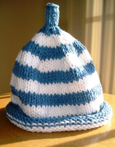 "Debbie Bliss ""Striped Baby Hat"" Finished"