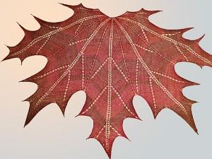 Maple Leaf Knit Shawl by Natalia @ Elfmoda