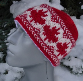 """O Canada! Maple Leaves Hat"" by Cheryl Andrews"