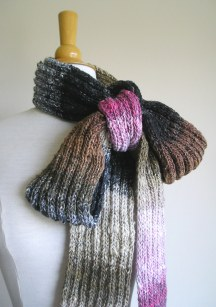Simple ribbed scarf made from Noro Taiyo (color 1)