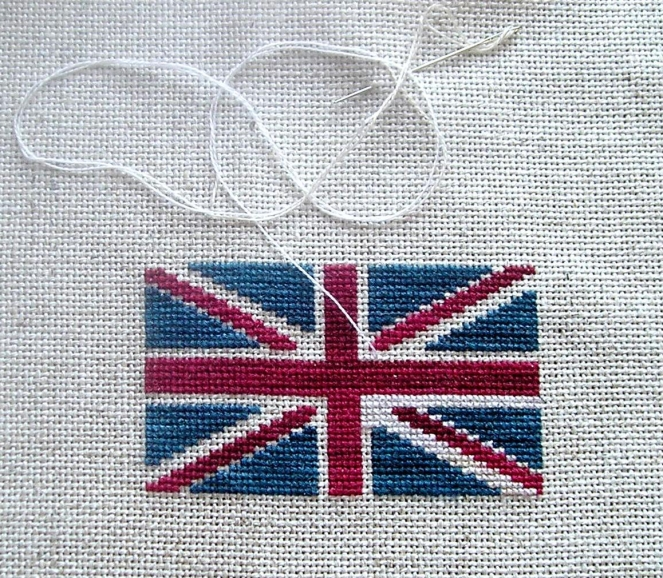 Union Jack Freebie in Progress