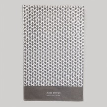 Slate Grey Moss Stitch Tea Towel
