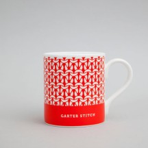 London Red Garter Stitch Mug