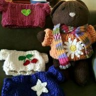 Baby Bobbi Bear with all his Sweaters and his Scarf