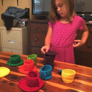 Ella Playing with Fiesta Tea Set