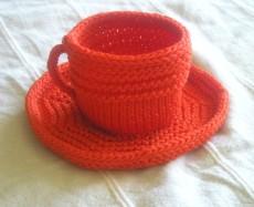 Tea Cup and Saucer, Tangerine