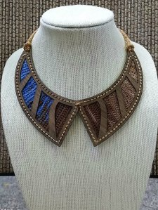 Art Nouveau Crochet and Wood Necklace Kit by eWood Story