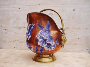 Copper Pot with Cross Stitch by stedi