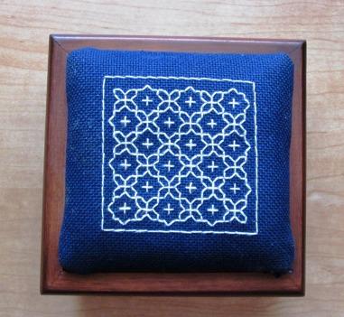 Craft Month Challenge Sashiko Box Cover 001