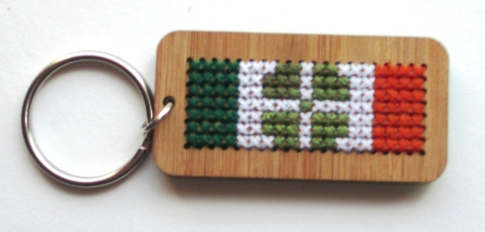 Craft Month Keychain with Irish Flag 002