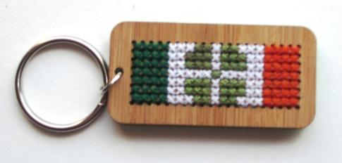 Craft Month Keychain with Irish Flag 002