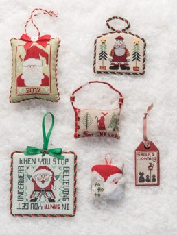 Just Cross Stitch Christmas Ornament Issue 2017 Here Comes Santa Claus