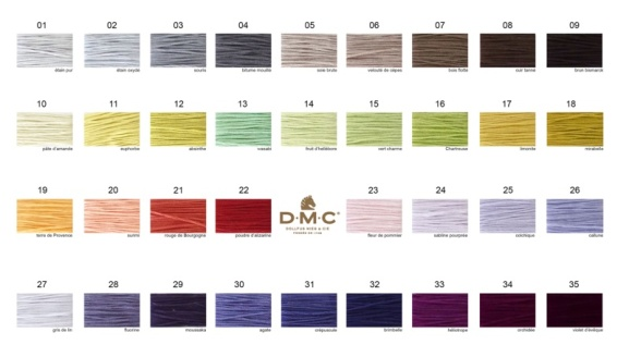 New DMC Colors Chart